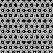 Black And Gray Flower Repeat Pattern Background
