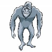 foto of bigfoot  - Bigfoot or Sasquatch vector illustration - JPG