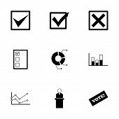 Vector black election icon set