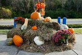 NASHVILLE, TN-NOV 6, 2014: Fall decorations at The Loveless Motel and Cafe in Nashville, Tennessee on Highway 100. Known for its southern style cooking and its biscuits, country ham and red-eye gravy.