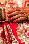 Decorative hand of bride