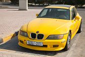 Yellow Bmw Z3 M Coupe Car Is Parked On The Roadside