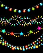 Colorful Christmas Lights Garlands