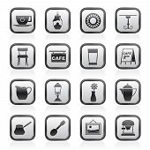 Café and coffeehouse icons