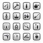 body care and cosmetics icons