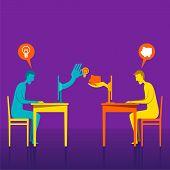 On-line giving new idea or save idea concept vector