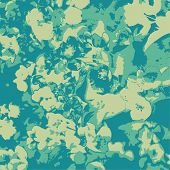 Abstract floral background, 3 colors vector