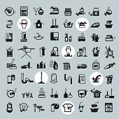 foto of garbage bin  - Cleaning icons - JPG