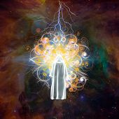 Mystic radiates energy Elements of this image furnished by NASA