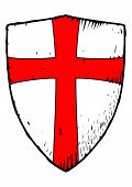 picture of templar  - Picture of the medieval Templar shield with a red cross - JPG