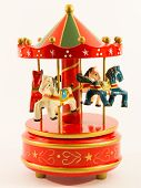 stock photo of merry-go-round  - red merry - JPG