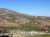 Cemetary On Bushy Hills Near Fes