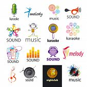Set Of Vector Icons Sounds And Music