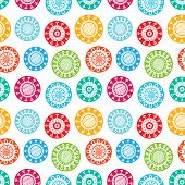 Abstract Modern Flat Fun Colorful Floral Seamless Scandinavian Background Pattern Design