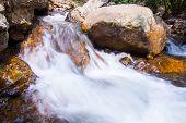 Waterfall In Khao Yai National Park Thailand.