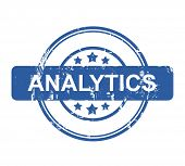 Business Analytics stamp with stars isolated on a white background.