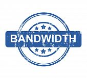 Bandwidth business concept stamp with stars isolated on a white background.
