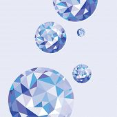 Abstract background with round crystals
