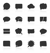 Set of speech bubble icons on white background