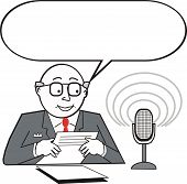 Newsreader cartoon