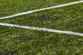 Line On Soccer Pitch