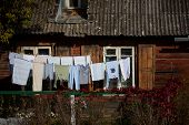 Laundry Is Hung To Dry