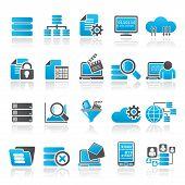 data and analytics icons