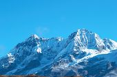 picture of mountain-high  - Top of High mountains covered by snow - JPG