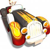 Baby im großen Auto