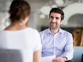 stock photo of interview  - Interview of two business professionals - JPG