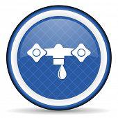 picture of hydraulics  - water blue icon hydraulics sign  - JPG