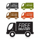 stock photo of truck  - Various truck delivery options - JPG