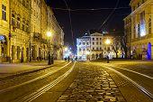 stock photo of tram  - Lviv Ukraine  - JPG