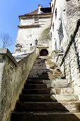 stock photo of dracula  - Entrance to Bran Castle - JPG