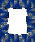 Lapis Lazuli Frame Isolated