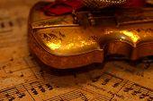 Violin Musical Score