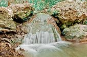 pic of cataract  - Close up of little waterfall on the aegean island Samos - JPG
