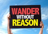 foto of wander  - Wander Without Reason card with sky background - JPG