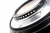 stock photo of contact lenses  - closeup details of camera lens Lens Contacts - JPG