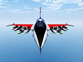 image of fighter plane  - Computer generated 3D illustration with a Fighter Plane - JPG