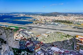 stock photo of gibraltar  - View of La L - JPG