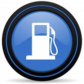 stock photo of petrol  - petrol icon gas station sign
