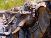 pic of bap  - Fountain Water Spouts Shaped like Elephant Heads - JPG