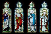 Stained glass window from mid 19th Century chapel in rural England