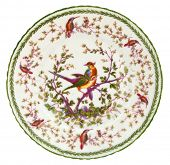 An antique Paris porcelain plate dating to the mid 19th century - genuine antique series