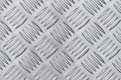 Aluminium checker plate background texture