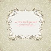 Vector background, frame with floral elements