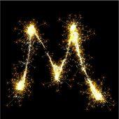 Vector sparkler alphabet.