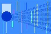 Abstract With Binary Code On Blue