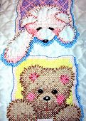 Cross-Stitched Teddy Bear Quilt 2